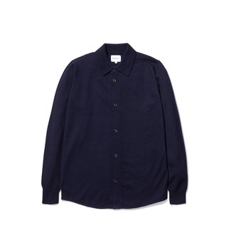 Norse Projects Martin Boiled Wool - Navy