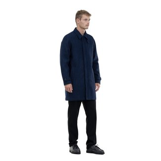 Norse Projects 50% off - Svalbard Harris Tweed - Navy