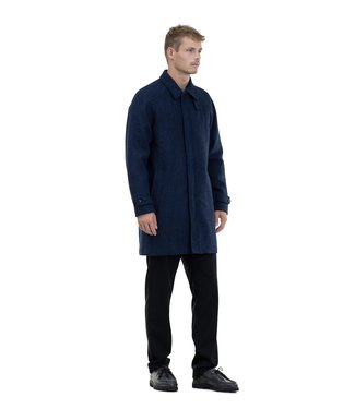 Norse Projects Now ...50% off - Svalbard Harris Tweed - Navy