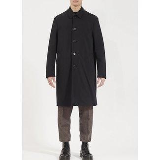 Harris Wharf London Men Mac Coat Technic Polaire - Black
