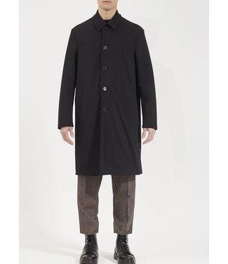 Harris Wharf London 50% off - Men Mac Coat Technic Polaire - Black