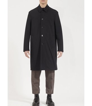 Harris Wharf London Men Mac Coat Technic Polaire - Black