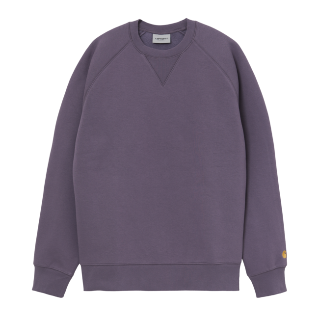 Carhartt WIP Chase Sweat - Provence / Gold