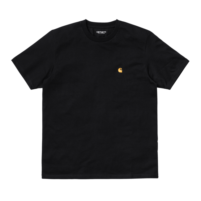 Carhartt WIP S/S Chase T-Shirt - Black / Gold