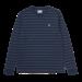 Carhartt WIP L/S Denton T-Shirt - Denton Stripe, Space / Malaga