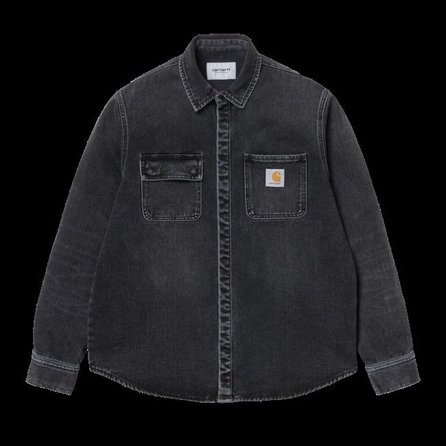 Carhartt WIP Salinac Shirt Jac - Black - Mid Worn Wash