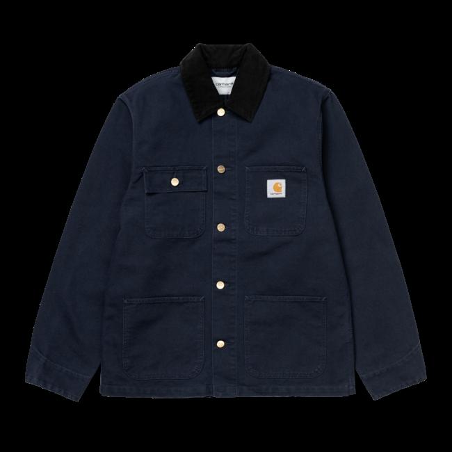 Carhartt WIP Michigan Coat - Dark Navy / Black Rinsed