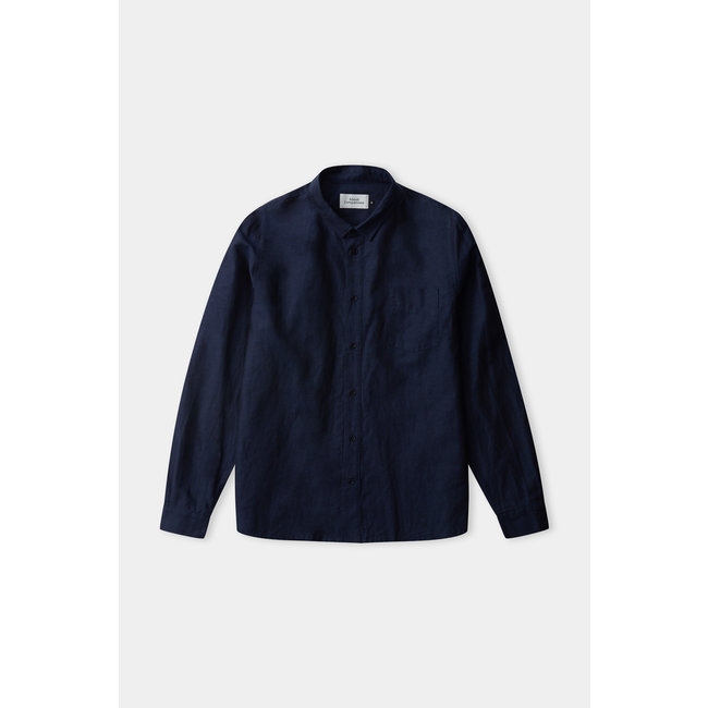 About Companions Simon Shirt - Navy (linen)