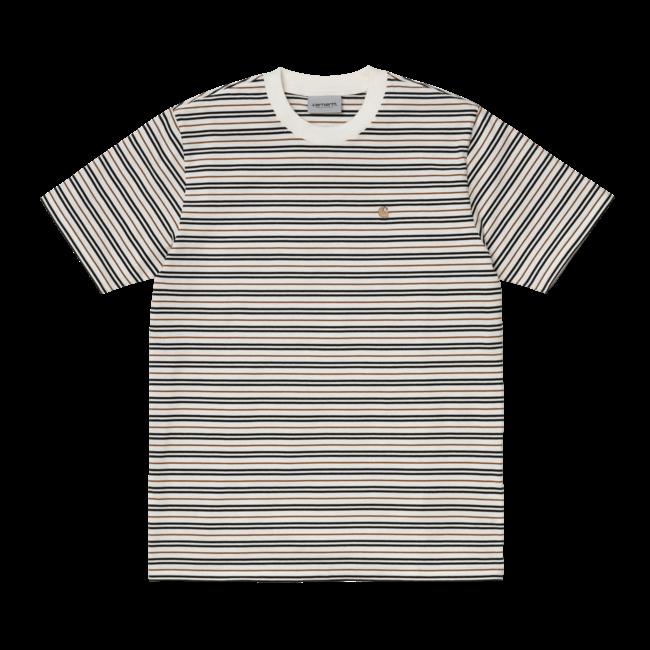 Carhartt WIP S/S Akron T-Shirt - Stripe/Wax