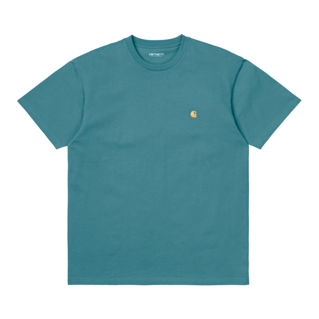 Carhartt WIP S/S Chase T-Shirt - Hydro / Gold