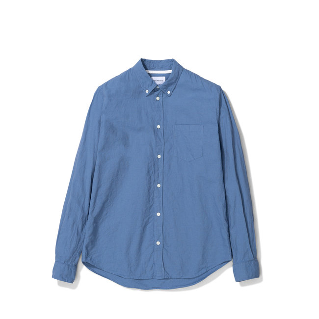 Norse Projects Osvald BD Cotton Linen - Scoria Blue