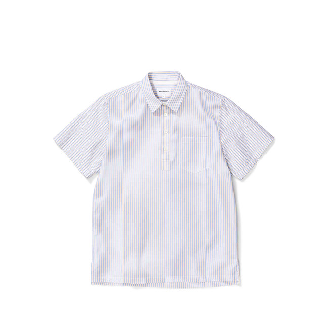 Norse Projects Oscar Oxford SS - Clouded Blue