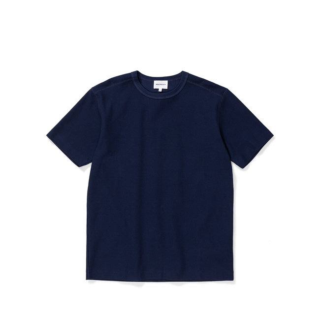 Norse Projects Johannes Compact Waffle SS - Navy