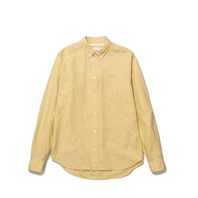 Norse Projects Osvald BD Cotton Linen - Sunwashed Yellow