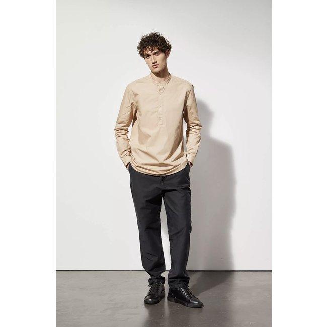 Le Mont st. Michel Curtis Poplin Shirt - Camel