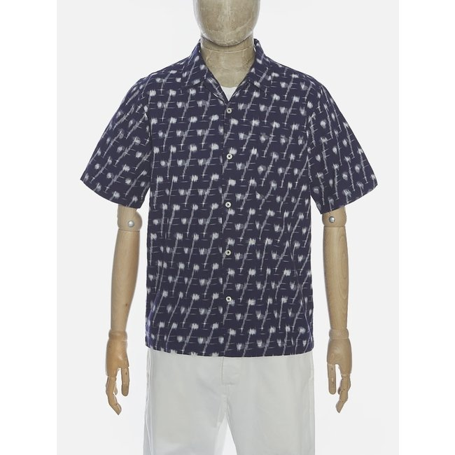 Universal Works Road Shirt - Indigo - Handloom Ikat