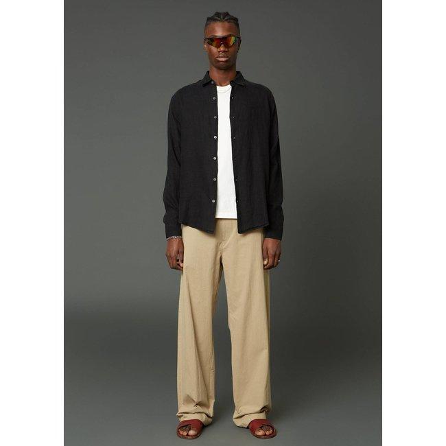 Hope Air Clean Linen Shirt - Black
