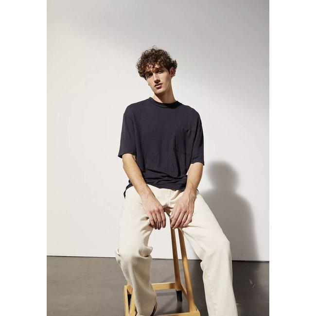 Le Mont st. Michel Tadao Linen Shirt - Navy