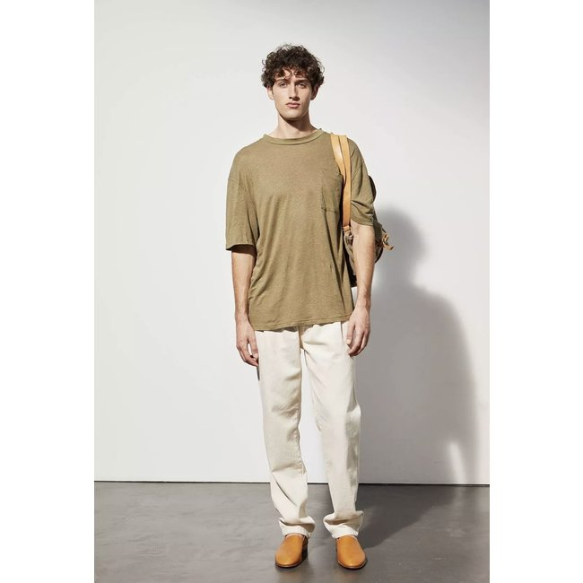 Le Mont st. Michel Tadao Linen Shirt -  Kaki