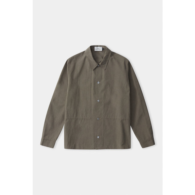 About Companions Owe Overshirt - Dusty Olive Tencel