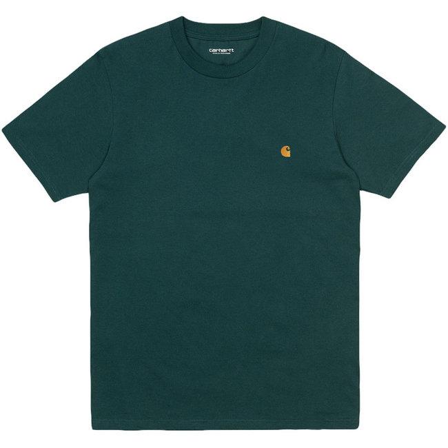 Carhartt WIP S/S Chase T-Shirt - Frasier / Gold