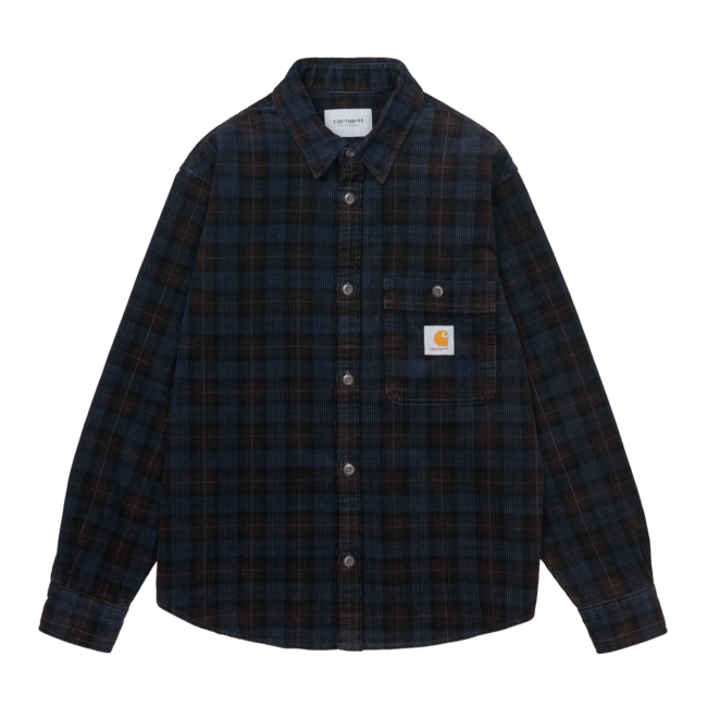 Carhartt WIP L/S Flint Shirt - Breck Check Print / Tobacco