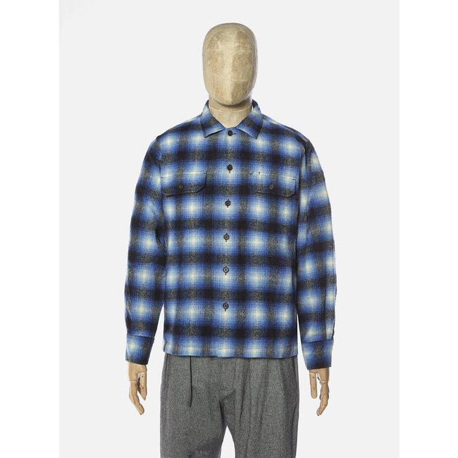 Universal Works L/S Utility Shirt - Blue Check / Texas Wool Plaid