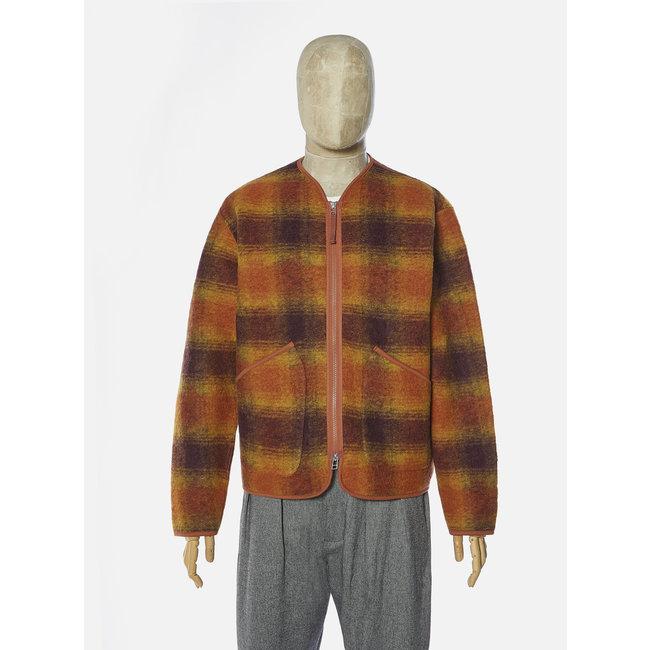 Universal Works Zip Liner Jacket - Gold Claret / Wool Fleece