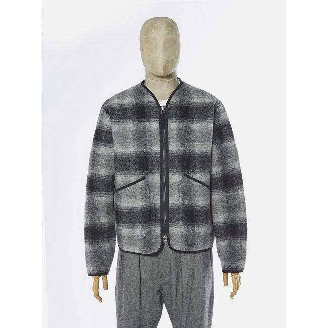 Universal Works Zip Liner Jacket - Grey Charcoal / Wool Fleece