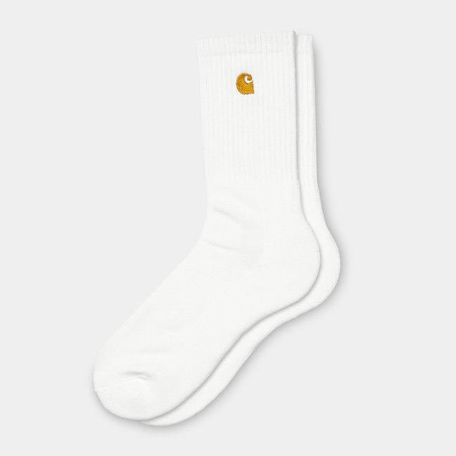 Carhartt WIP Chase Socks - White / Gold