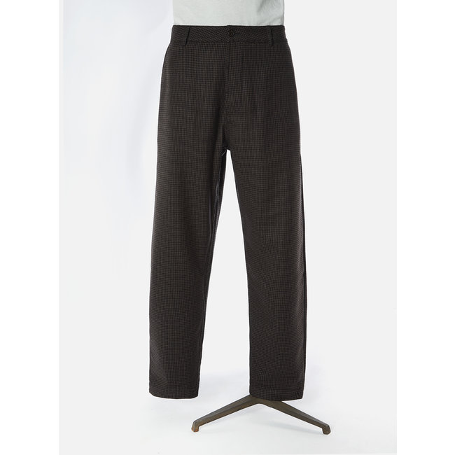 Universal Works Military Chino - Brown Dogtoothe Wool Mix