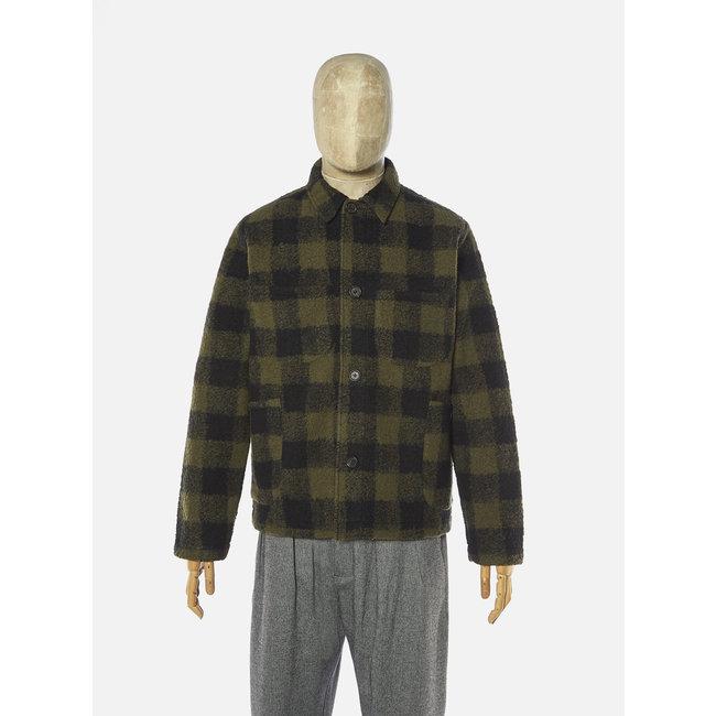 Universal Works Lumber Jacket - Olive / Checked Fleece