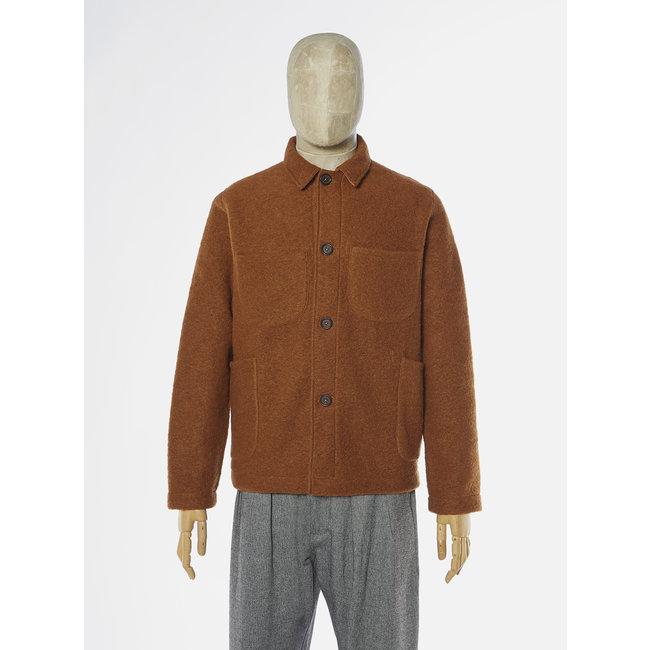 Universal Works Lumber Jacket - Rust / Wool Fleece
