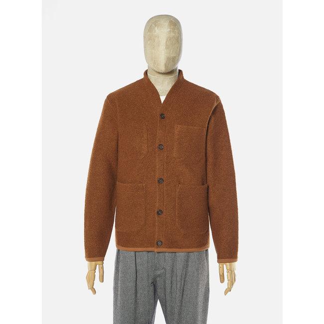 Universal Works Cardigan - Rust / Wool Fleece