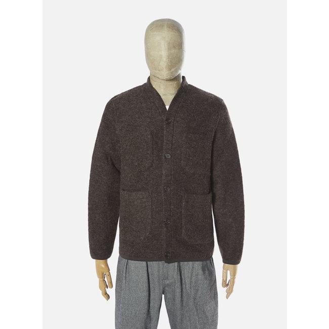 Universal Works Cardigan - Brown / Wool Fleece