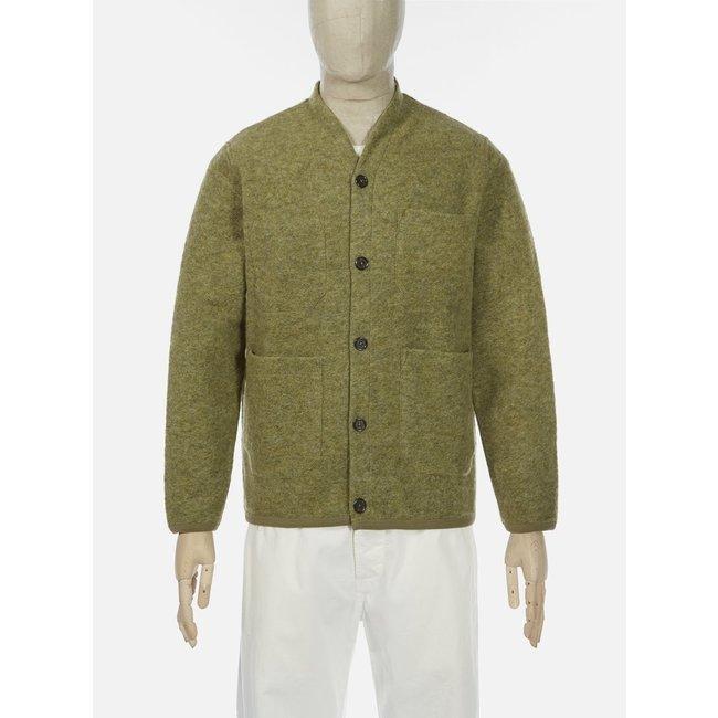 Universal Works Cardigan - Light Olive / Wool Fleece