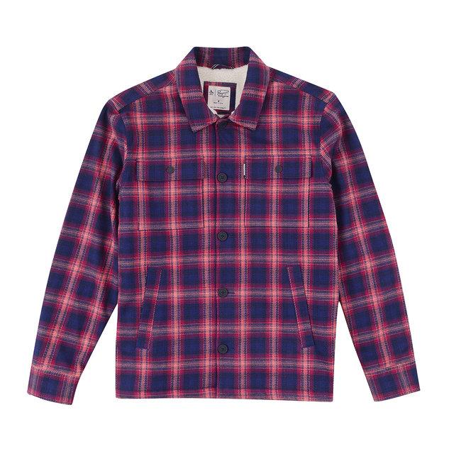 Original Penguin Shirt Jacket Plaid - Dark Sapphire