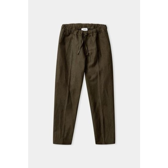 About Companions Max Trousers - Olive Winter Linen
