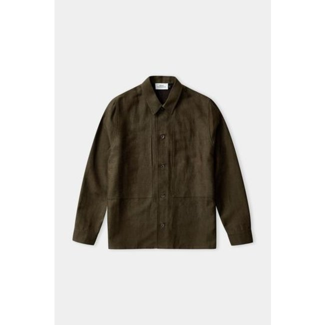 About Companions Owe Overshirt - Olive Winter Linen
