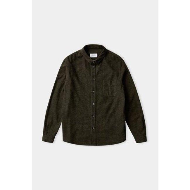 About Companions Simon Shirt - Eco Olive Flannel