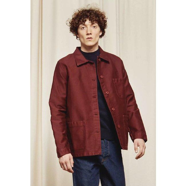 Le Mont st. Michel Genuine Work Jacket - Burgundy