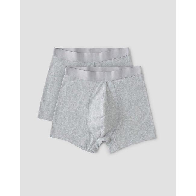 Organic Basics Organic Cotton Boxers 2-Pack - Grey Melange