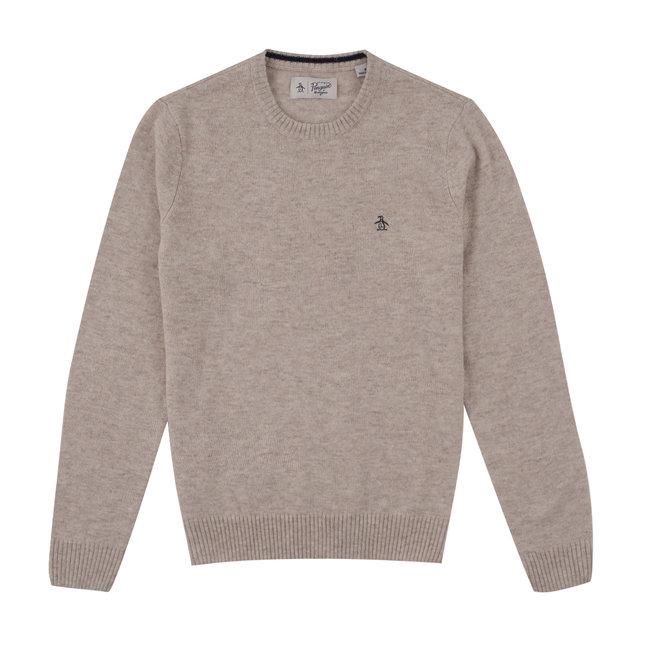 Original Penguin Lambswool Sweater - Oatmeal