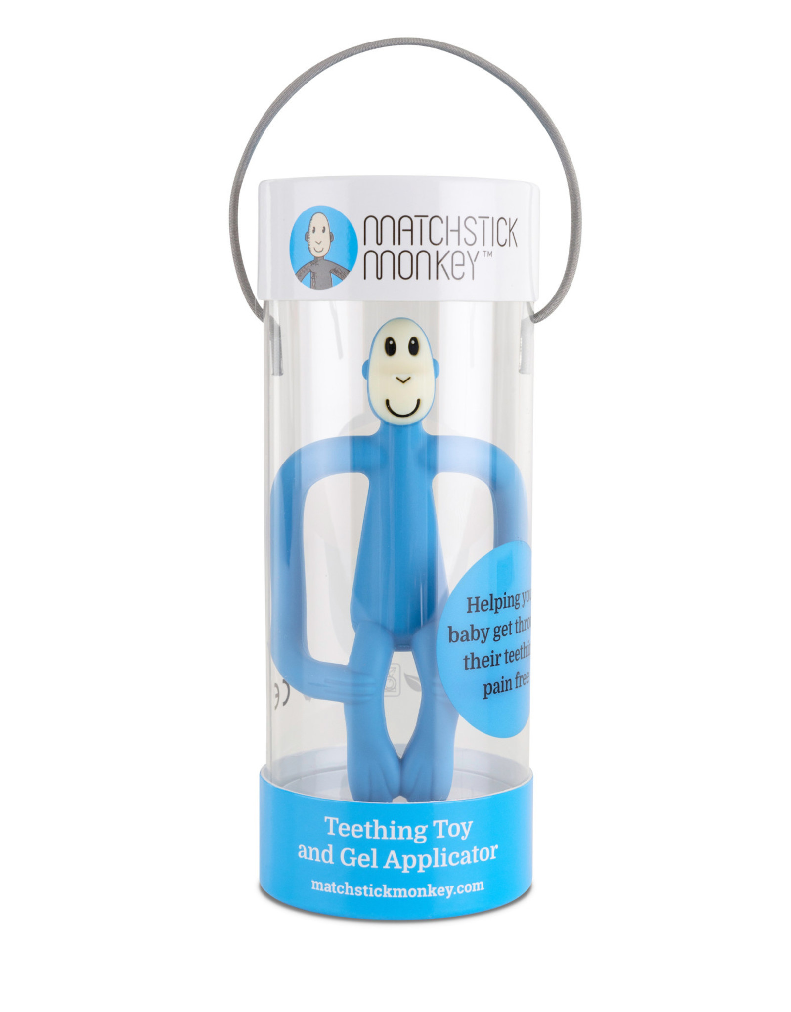 Matchstick Monkey Bijtspeeltje Monkey Light Blue
