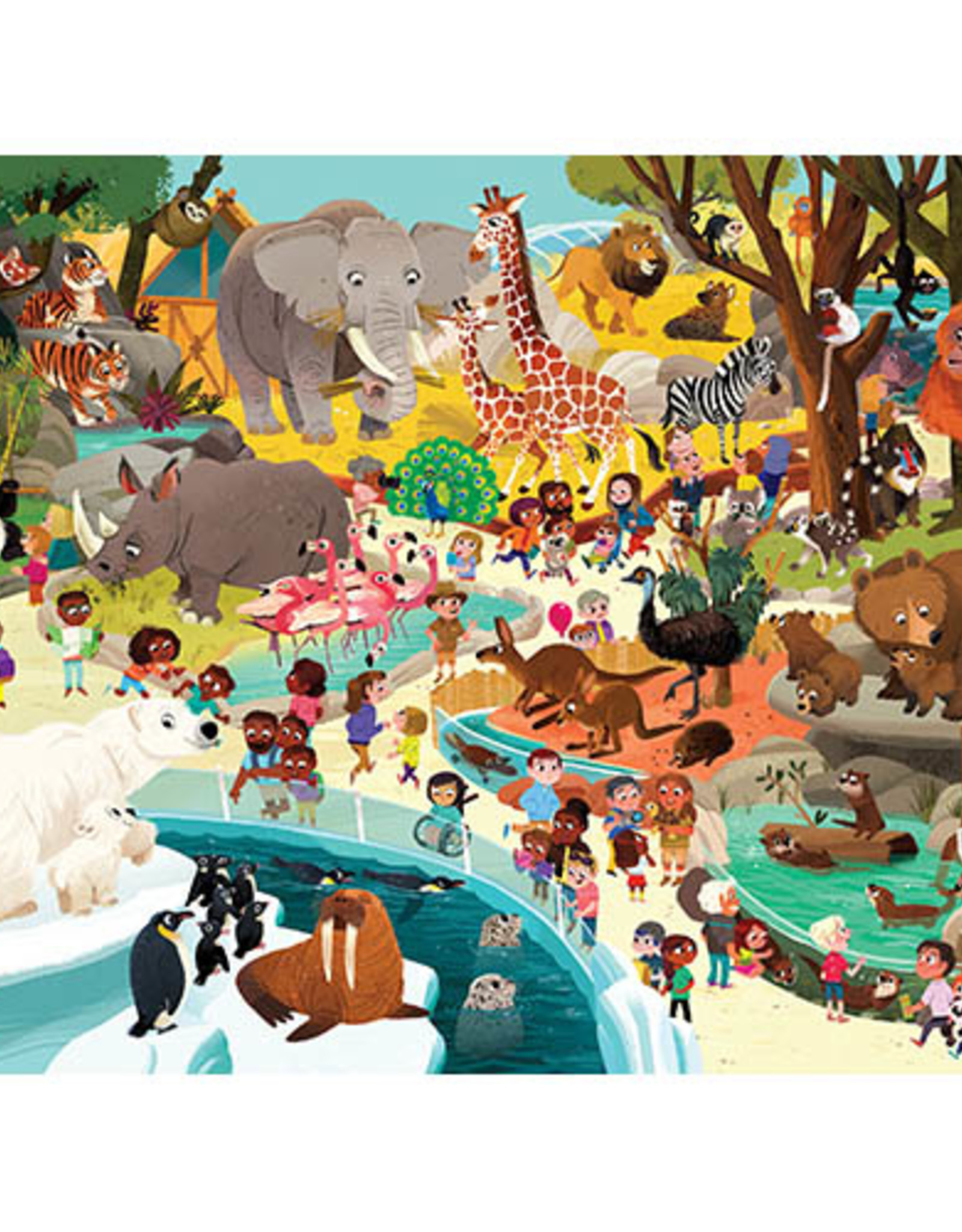 Crocodile Creek Puzzel Day at the Zoo