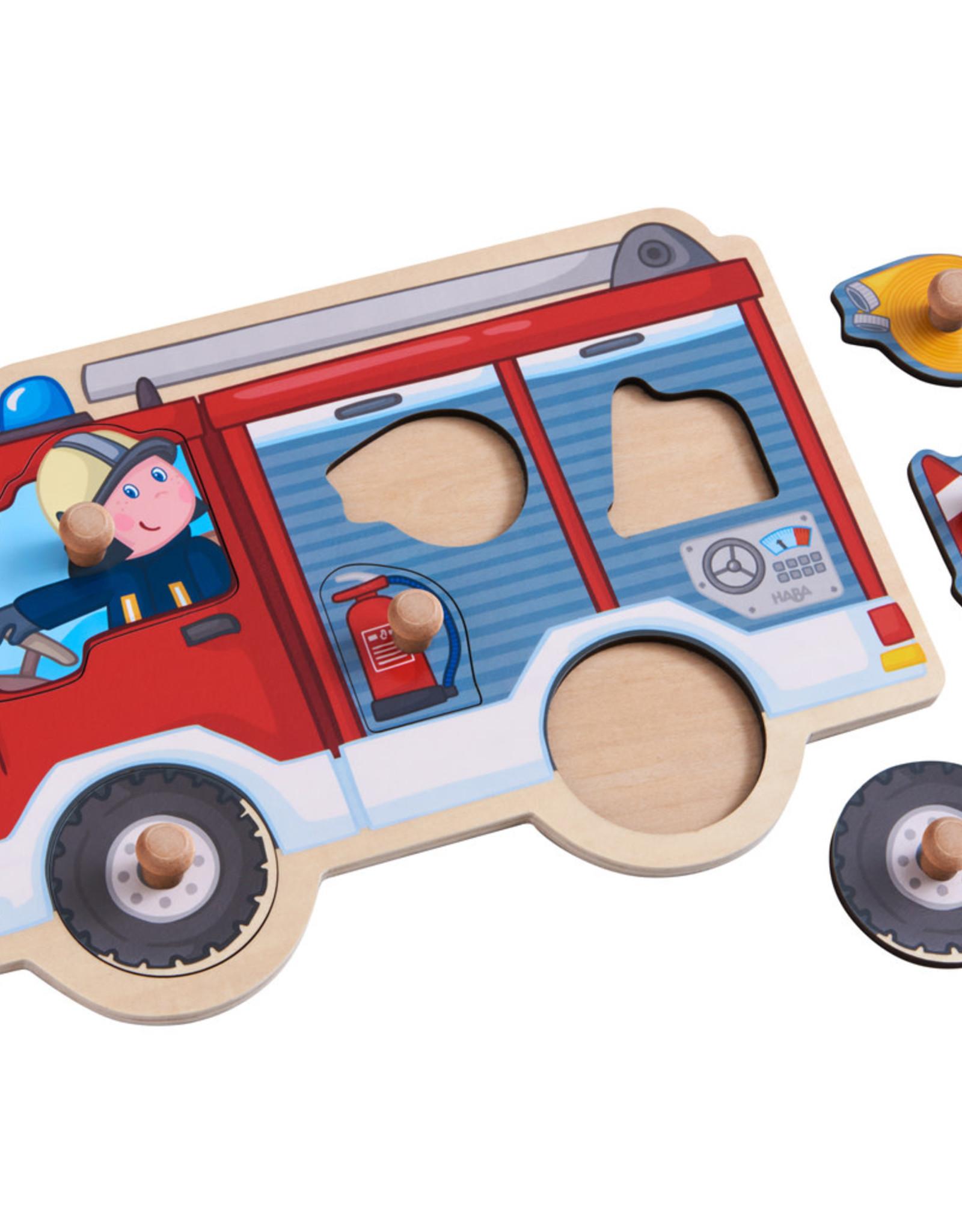 HABA Knoppuzzel Brandweerwagen