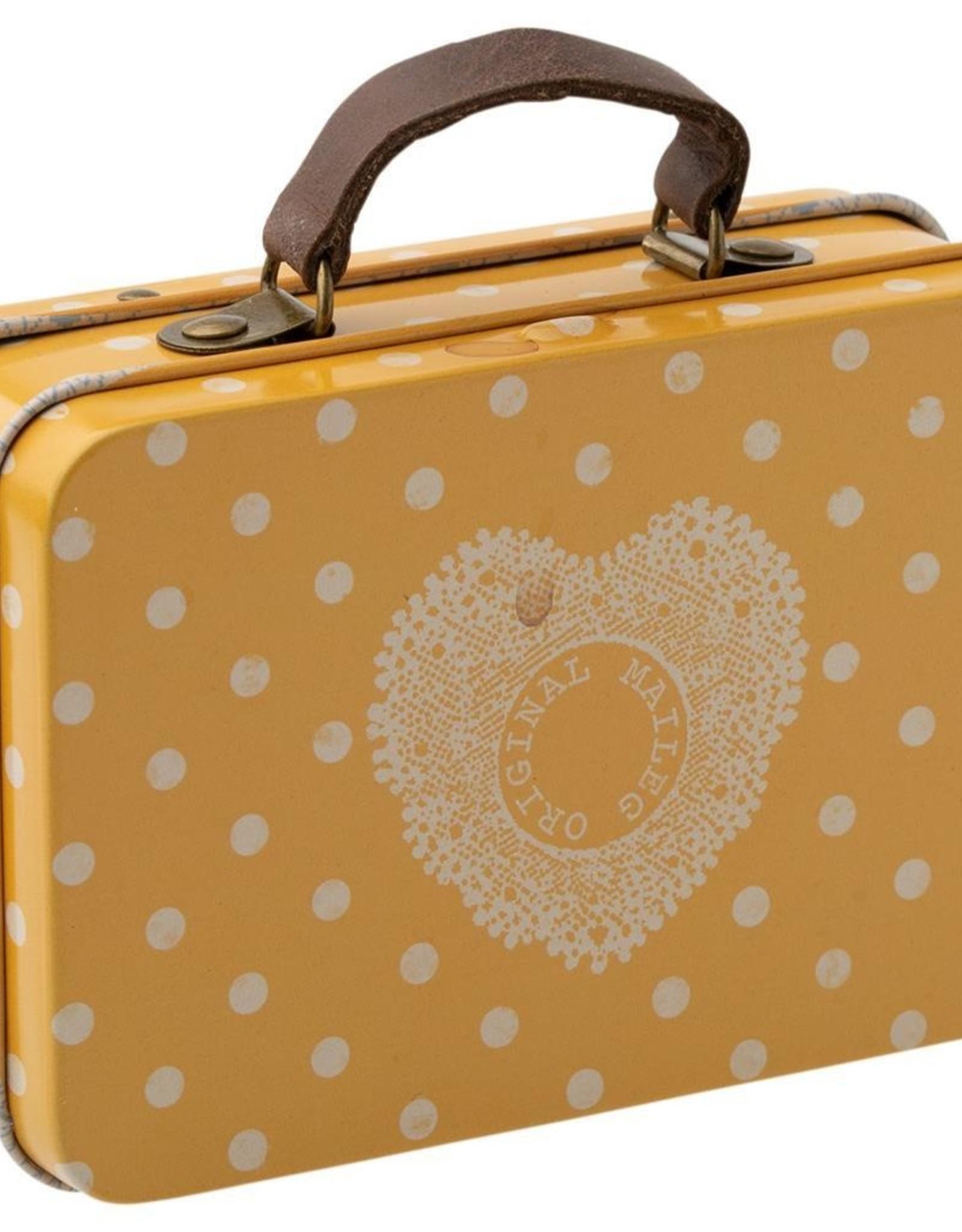 Maileg Metalen koffertje Yellow Dots