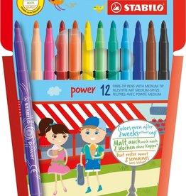 Viltstiften Power 12 stuks