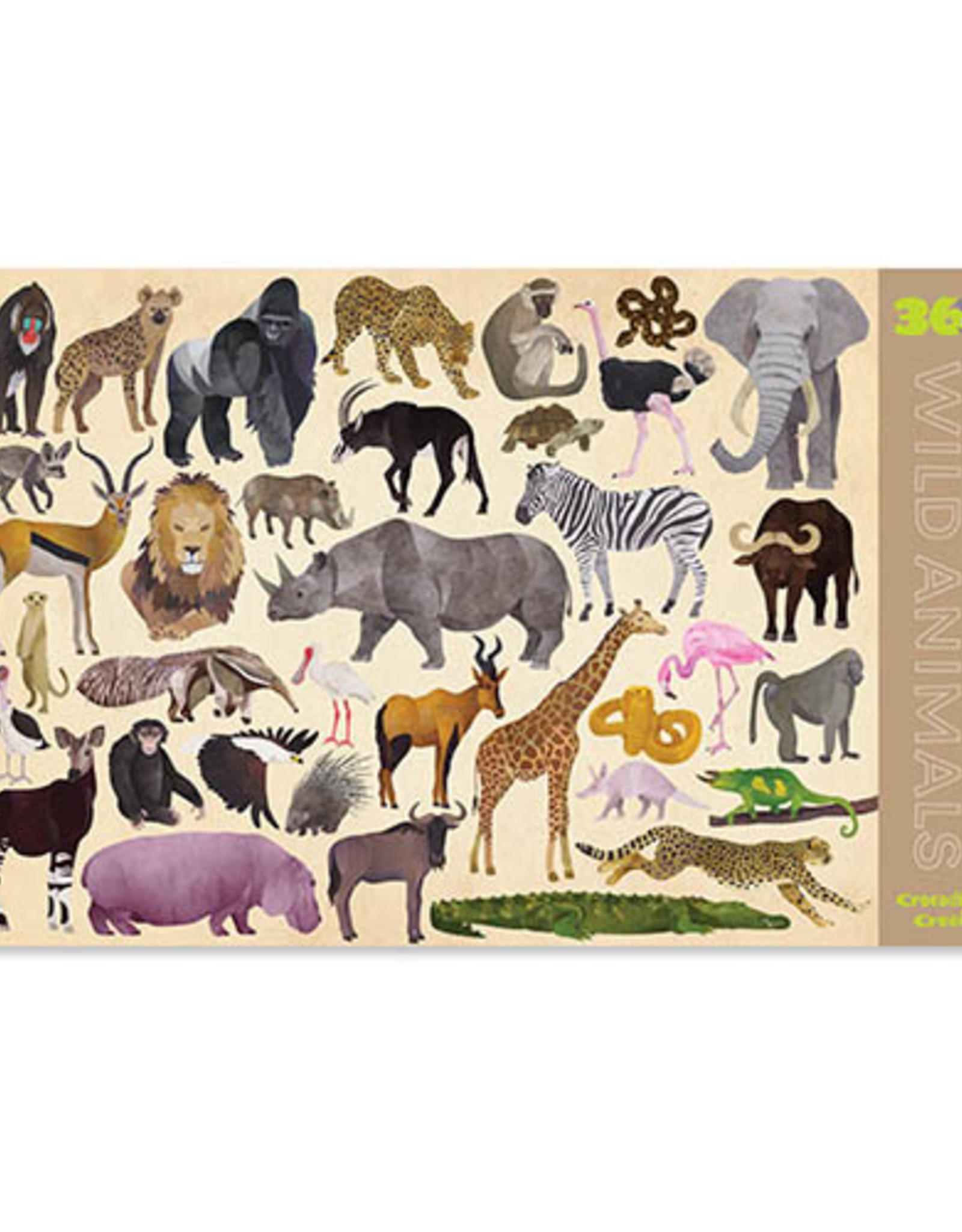 Crocodile Creek Placemat 36 Wild Animals