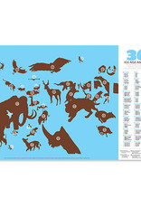 Crocodile Creek Placemat 36 Ice Age Animals